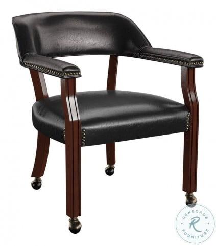 Tournament Black Captains Chair