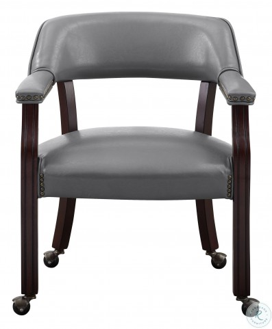 Tournament Rich Cherry And Gray Arm Chair