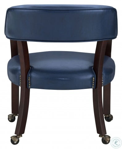 Tournament Rich Cherry And Navy Arm Chair