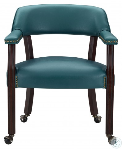 Tournament Rich Cherry And Teal Arm Chair