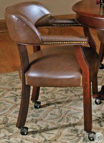 Tournament Brown Captains Chair