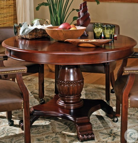 Tournament Brown Round Folding Game Table