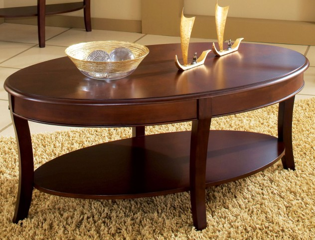 Troy Medium Brown Cherry Cocktail Table