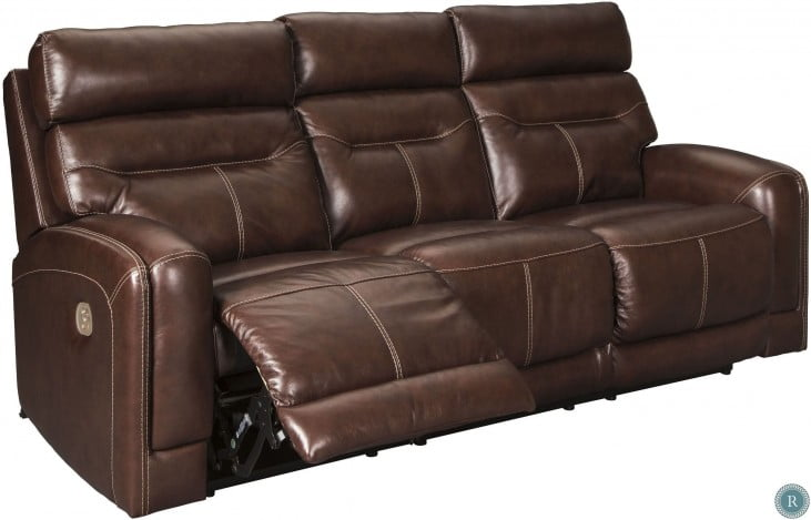 5ff4e01b92 Sessom Walnut Power Reclining Sofa from Ashley | Coleman Furniture