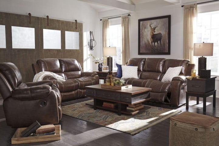 Rackingburg Mahogany Reclining Living Room Set