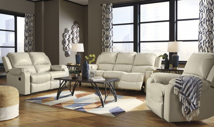 Rackingburg Cream Reclining Living Room Set