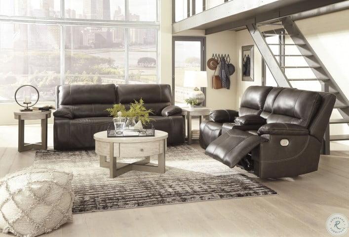 Ricmen Walnut Power Reclining Living Room Set