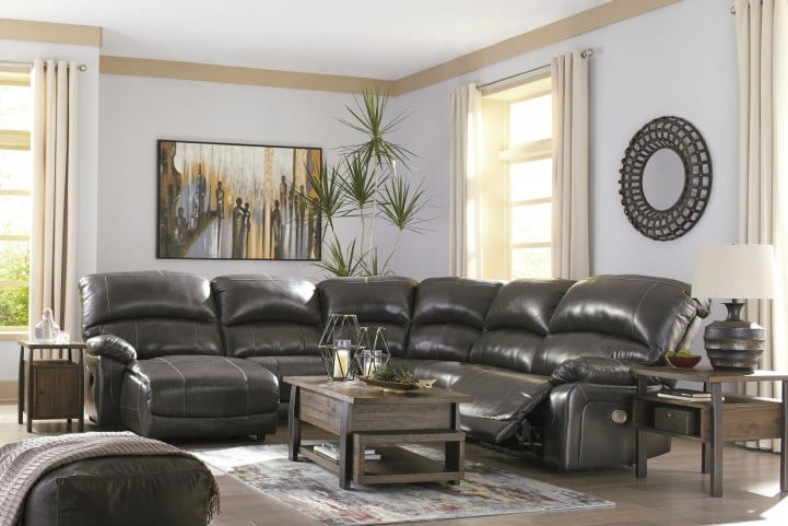 Wondrous Hallstrung Gray Power Reclining Laf Sectional Home Interior And Landscaping Ologienasavecom