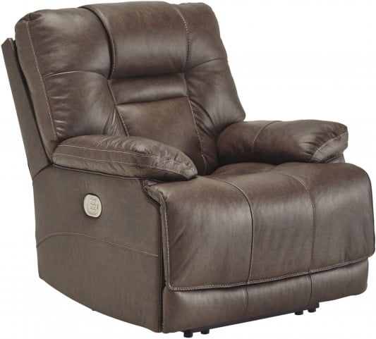 Wurstrow Umber Power Recliner with Adjustable Headrest