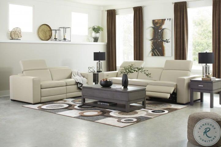Texline Sand Power Reclining Living Room Set with Power Headrest