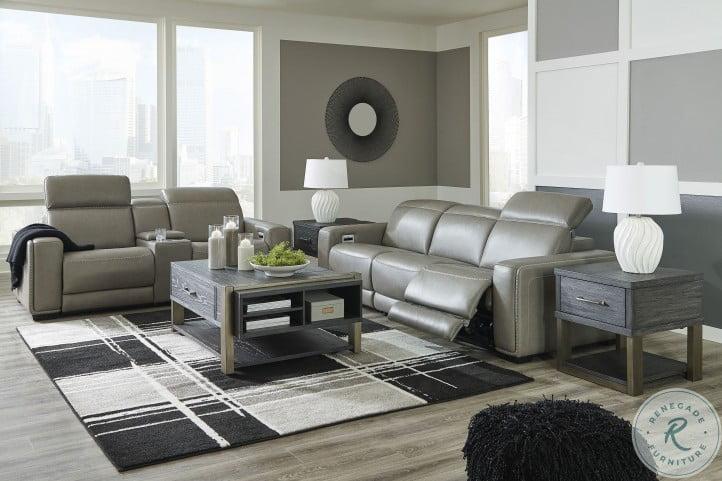 Correze Gray Power Reclining Living Room Set