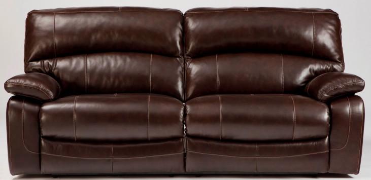 Damacio Dark Brown 2 Seat Power Reclining Sofa
