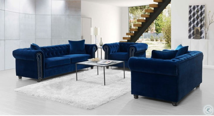 Gramercy Navy Blue Living Room Set From Picket House Furnishings Coleman Furniture