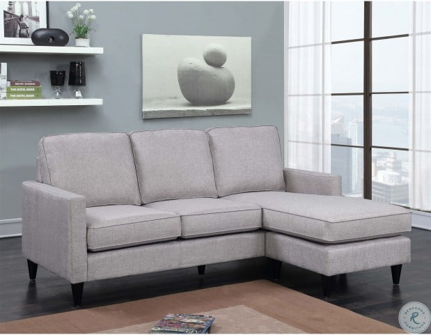 Wondrous Nori Grey Reversible Chaise Sectional Gmtry Best Dining Table And Chair Ideas Images Gmtryco