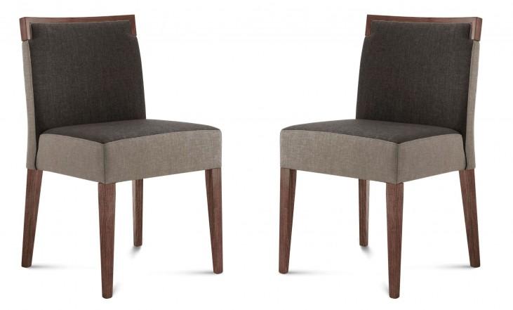 Ariel Walnut Beechwood Chair Set of 2