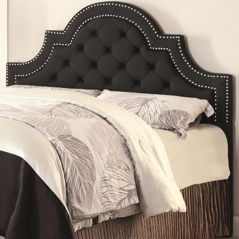 Ojai Charcoal Upholstered King Tufted Headboard