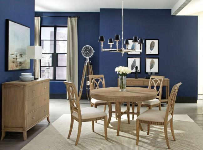 Beau Urban Retreat Khaki Extendable Round Dining Room Set From Hekman Furniture  | Coleman Furniture