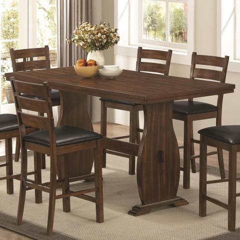 Urbana Vintage Cinnamon Rectangular Counter Dining Table