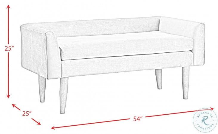 Bella Ash Velvet Upholstered Bench