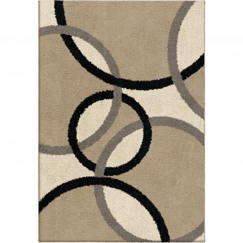 Magic Rings Flax Small Rug