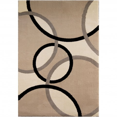 Magic Rings Flax Large Rug