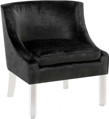 Tristan Black Alligator Accent Chair From Elements Furniture