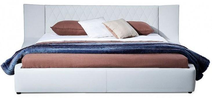 Valentina White King Platform Bed