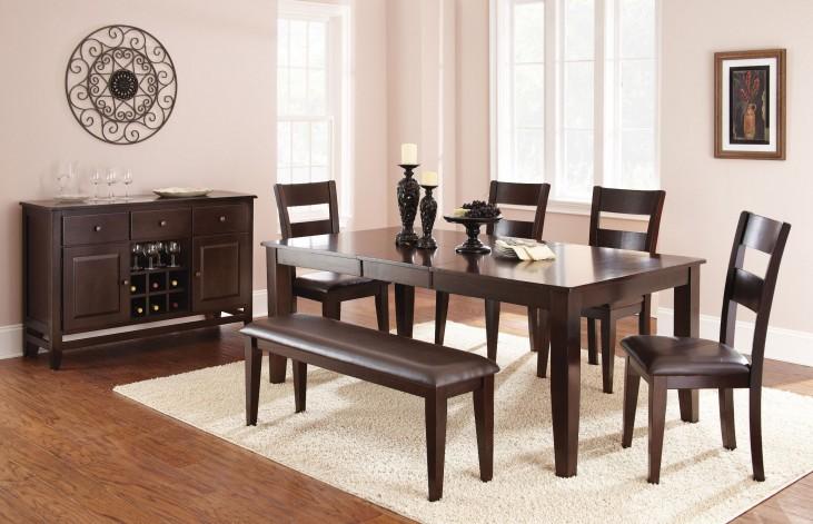Victoria Dark Espresso Extendable Rectangular Dining Room Set