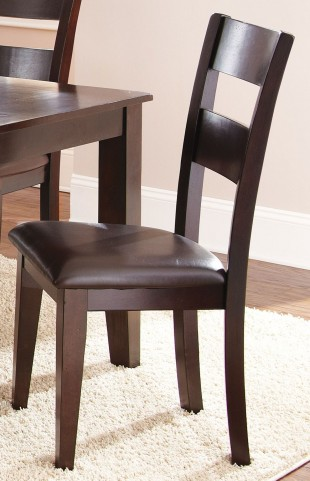 Victoria Dark Espresso Side Chair Set of 2