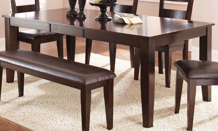 Victoria Dark Espresso Extendable Rectangular Dining Table