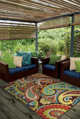 "Veranda Paisley Multi Medium 90"" Rug"