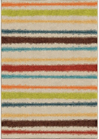 Orian Rugs Indoor/Outdoor Stripes Montreal Multi Area Medium Rug