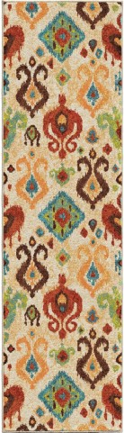 Orian Rugs Bright Color Southwest Aztec Jubilee Multi Runner Rug