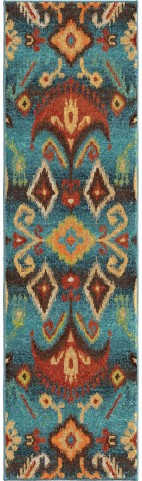 Spoleto Bright Color Southwest Aztec Monica Multi Runner Rug