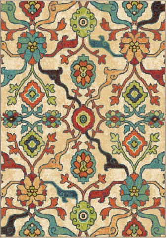 Orian Rugs Bright Color Floral Tibet Multi Area Small Rug