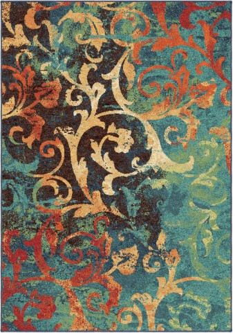 Orian Rugs Bright Color Scroll Nepal Scroll Multi Area Medium Rug
