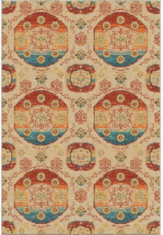 Orian Rugs Bright Color Medallions Peking Beige Area Small Rug
