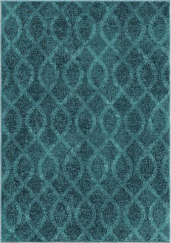 Orian Rugs Bright Color Geometric Geo Loop Blue Area Large Rug