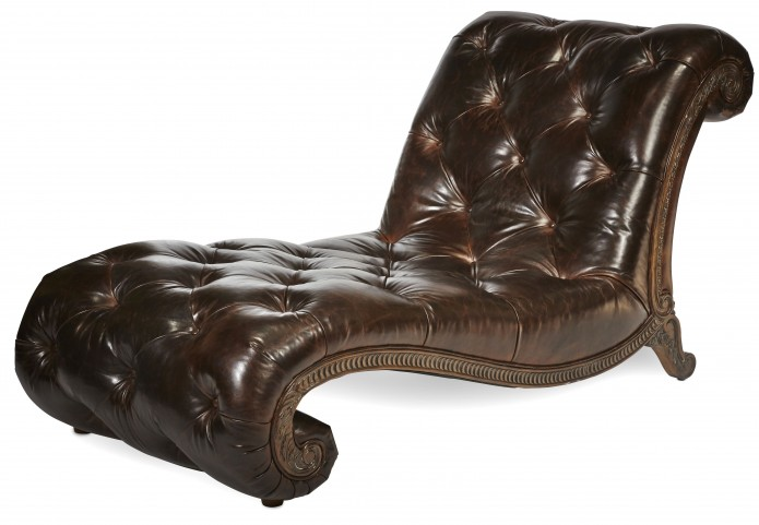 Victoria Palace Leather Armless Chaise