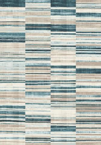 Villa Navy/Beige Barcode Floor Cloth Large Rug