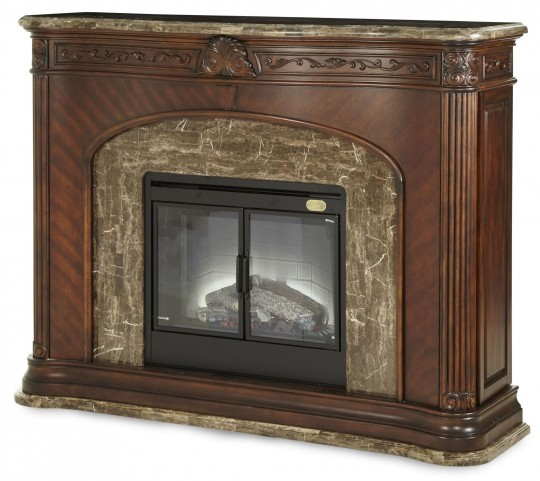 Villagio Marble Top Fireplace With Electric Fireplace Insert