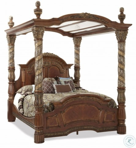 Villa Valencia King Poster Canopy Bed