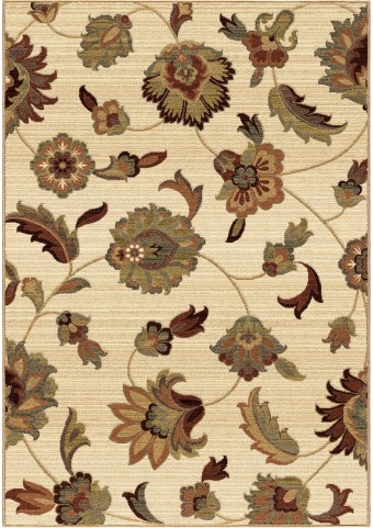 Orian Rugs Unique Designs Floral Frazier Ivory Area Medium Rug