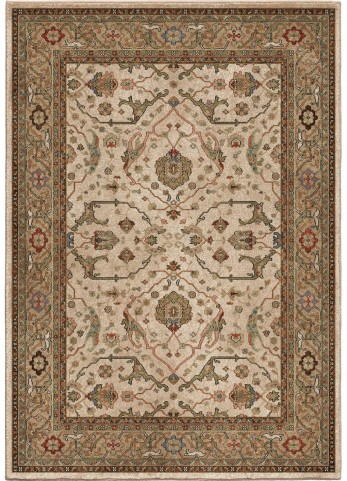 Radiance Insanely Soft Oriental Ankara Beige Small Area Rug