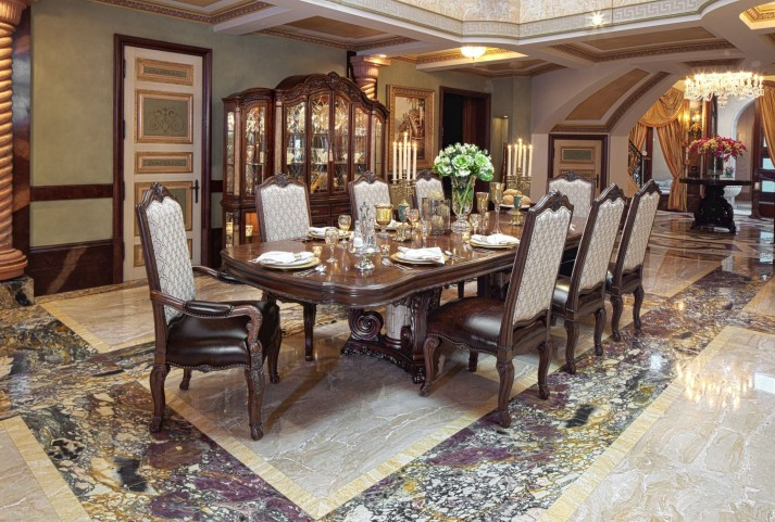 Victoria Palace Rectangular Extendable Dining Room Set