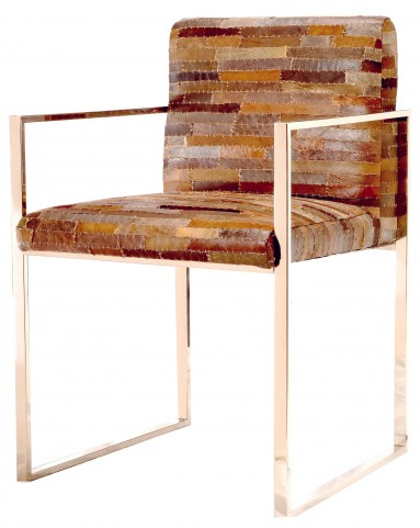 Verona Patchwork Leather Dining Chair