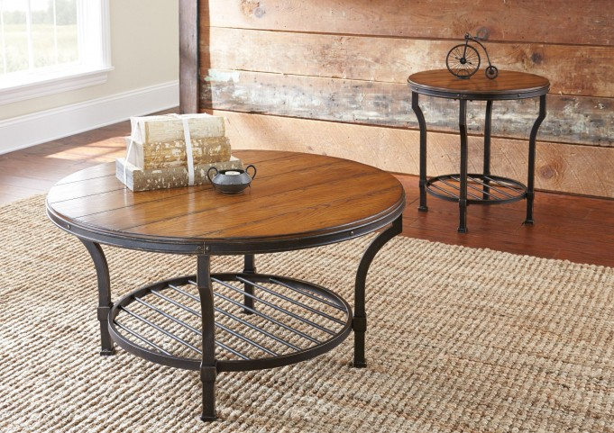 Veneta Metal Base Occasional Table Set