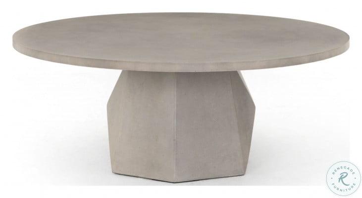 Thayer Grey Concrete Bowman Outdoor Coffee Table