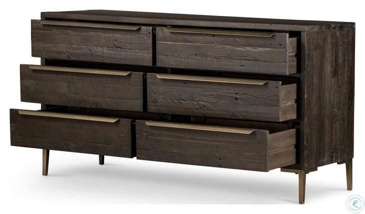 Wyeth Dark Carbon 6 Drawer Dresser From Fourhands Homegallerystore Com Vwyt 005b