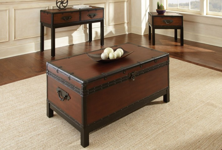 Voyage Medium Cherry Occasional Table Set